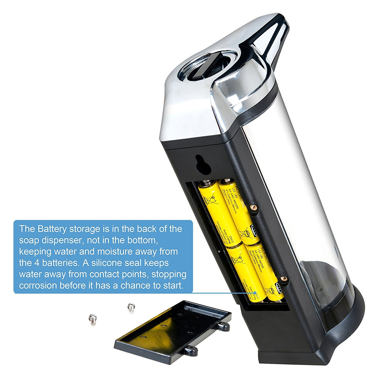 Secura Dispensador eléctrico e automático de jabón manos libres (Puede operar con baterías) 500ml Negro: Amazon.es: Hogar