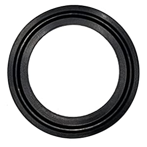 """DR-COMPONENT 1.5"""" Sanitary Standard Tri-Clamp Gaskets (Pack of 25), Black EPDM"""