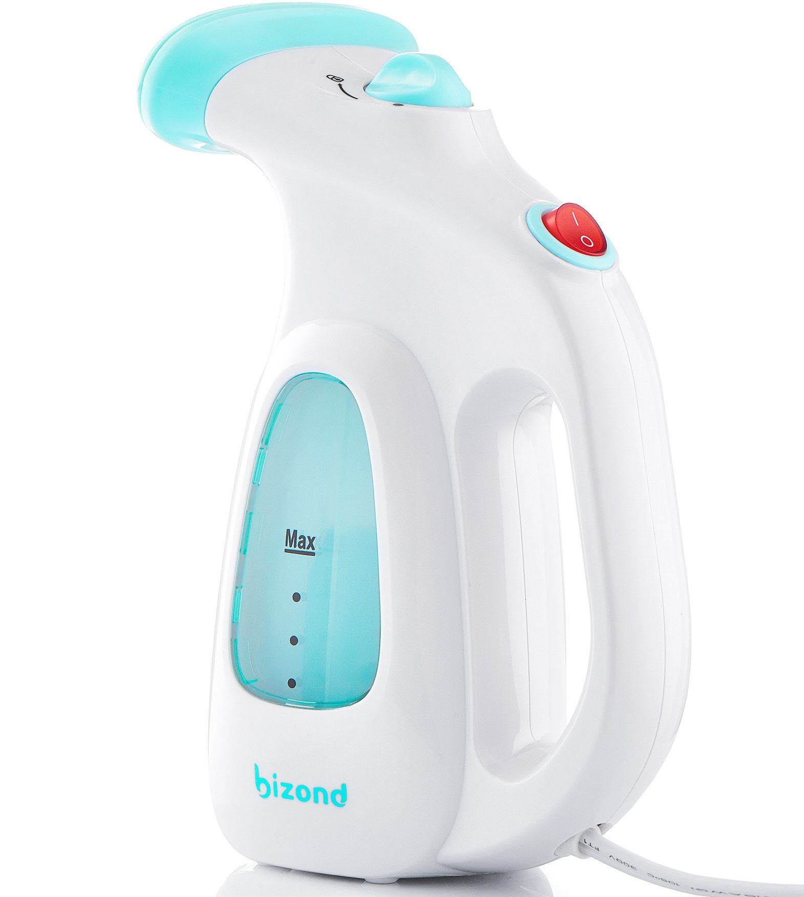 Steamer for Clothes, Garment, Fabric - Portable, Handheld Steamer - Safe and Little Handy, Anti-Spill - Home and Travel - Compact Mini Steamer for Shirt, Dresses, Curtain with Accessories (White) by BIZOND