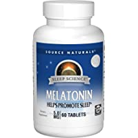Source Naturals Melatonina 5 mg, 12105030, 60 Tablets