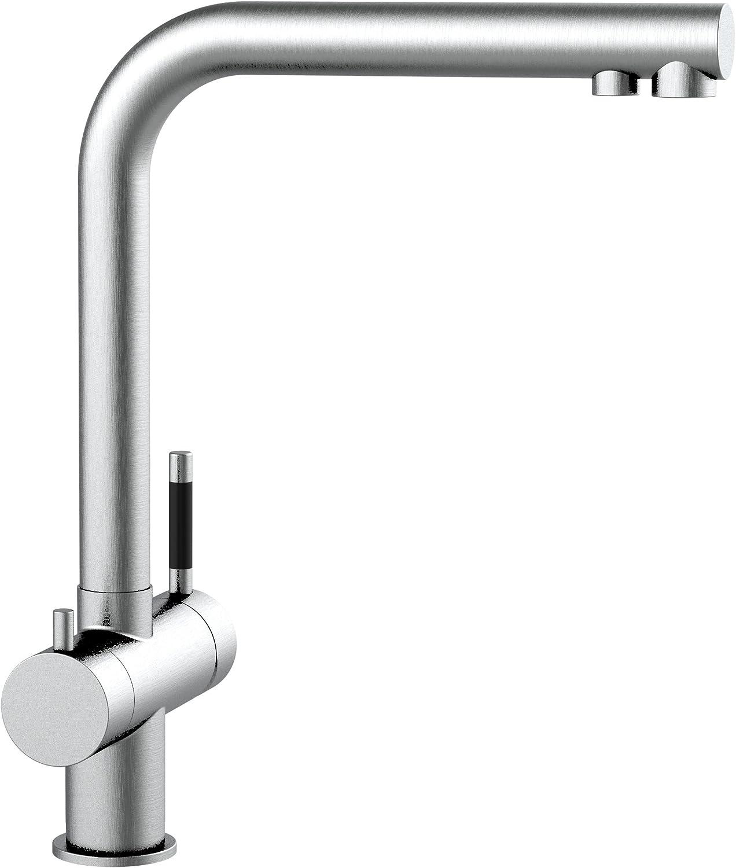 Grifo de cocina acero inoxidable 3 vias para sistemas de filtro purificador de agua doble conducto totalmente independiente el uno del otro