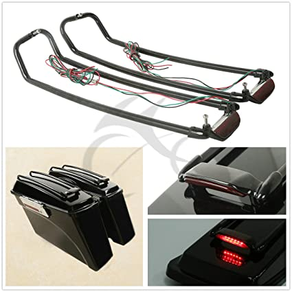 Strong-Willed Saddlebag W/ Lid Spoiler For Harley Touring Electra Street Road Glide King 94-13 Bags & Luggage