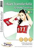 Your Design T Shirt Folie: 32 T-Shirt Transferfolien für weiße Textilien A4 Inkjet (Transferfolie Textil)