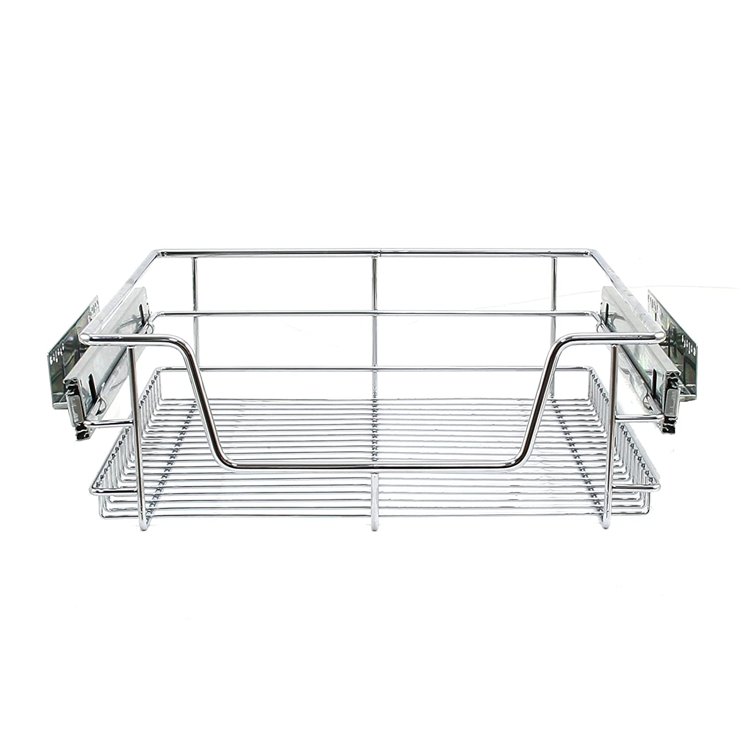 KuKoo 5 x Kitchen Pull Out Soft Close Baskets, 500mm Wide Cabinet, Slide Out Wire Storage Drawers MonsterShop