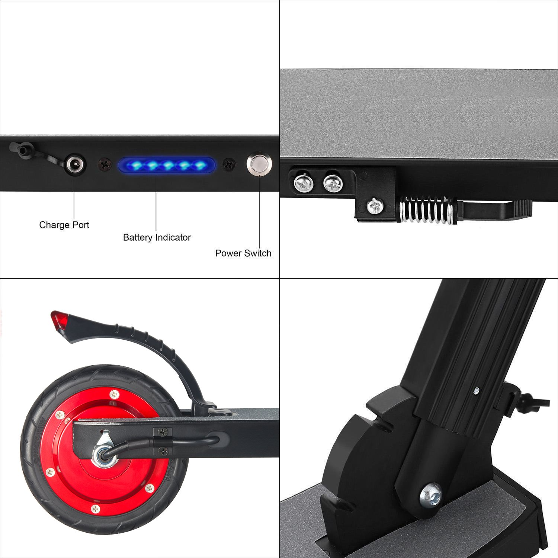 MegaWheels Patinete El/éctrico Plegable Scooter 8.5kg Ultra Ligeros Velocidad M/áxima 23km//h para Corta Distancia Adolescentes y Adultos