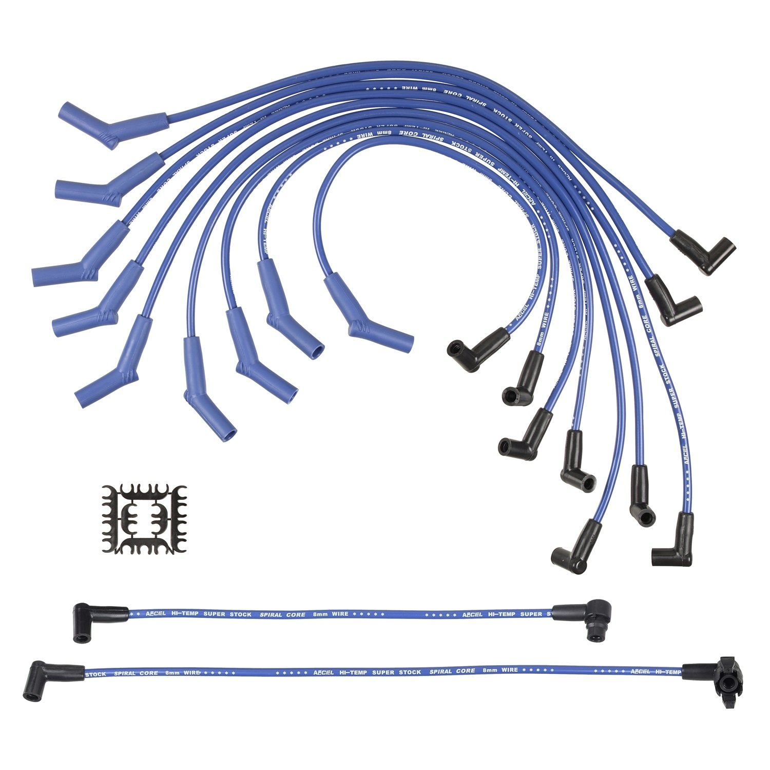 ACCEL 5056B SuperStock 8mm 5000 Series Blue Custom Spiral Core Spark Plug Wire Set
