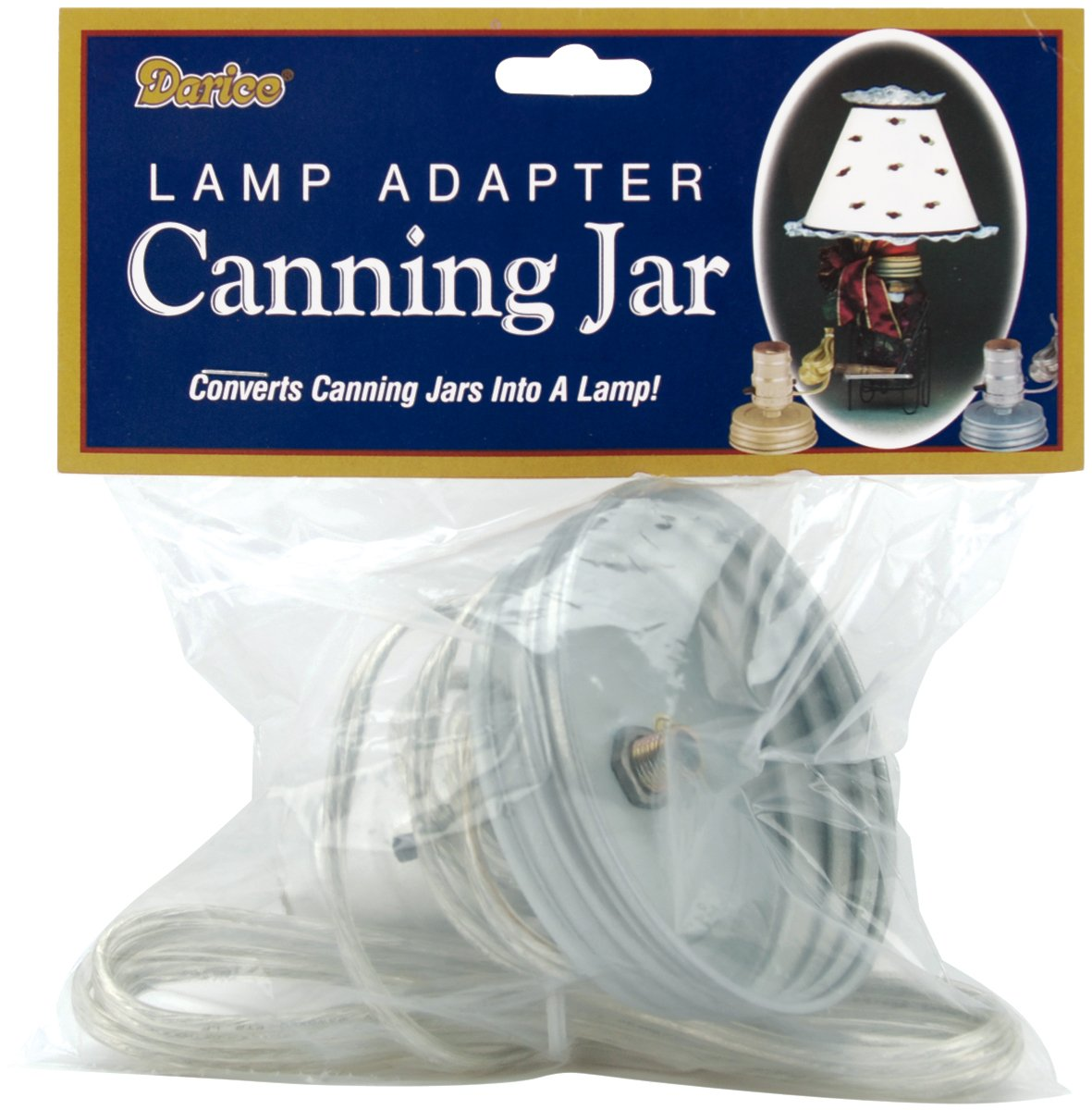 Amazon.com: Darice Canning Jar Lamp Adapter with Silver Cord: Home ...