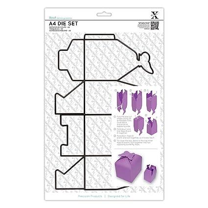 Xcut A4 - Platilla de corte para hacer cajas de cartulina, diseño de mariposa