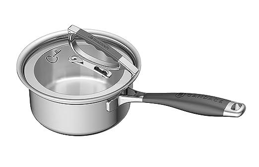 CookCraft by Candace - Cazo de acero inoxidable de 3 capas con ...