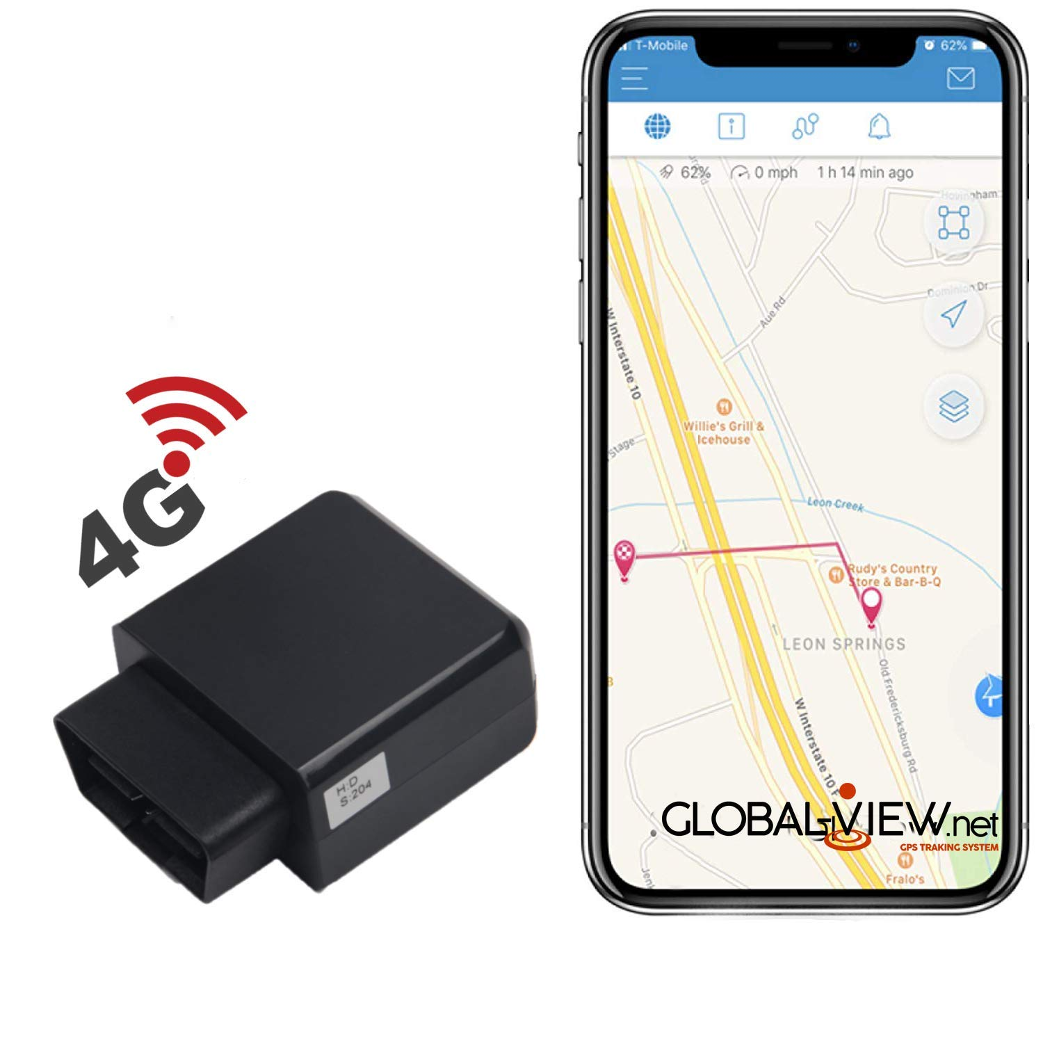 Gps Tracking For Cars >> Amazon Com Global View Net Gps Vehicle Tracking Device And