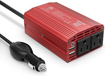 Bestek 300W Power DC 12V to 110V AC Car Inverter