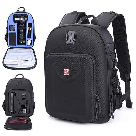 Smatree Mochila para cámara réflex, 2 Objetivos y Accesorios Compatible con Nikon D3400/D7200