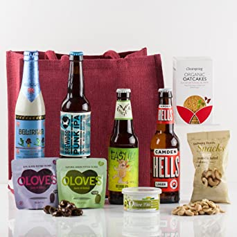 Natures Hampers Craft Beer & Bites Gift Bag - Luxury Craft Beers ...