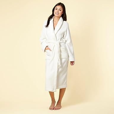 Presence Cream Fleece Dressing Gown: Amazon.co.uk: Clothing