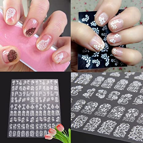 Buy Rrimin 108 Pcs 3d Diy Flower Design Nail Art Stickers Flower