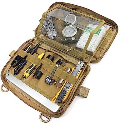 WYNEX Tactical Molle Admin Pouch, EDC Utility Pouches Tools Bag EMT Utility Map Pocket, Paquete IFAK
