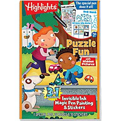 Lee Publications Magic Pen Painting - Highlights 'Puzzle Fun': Toys & Games