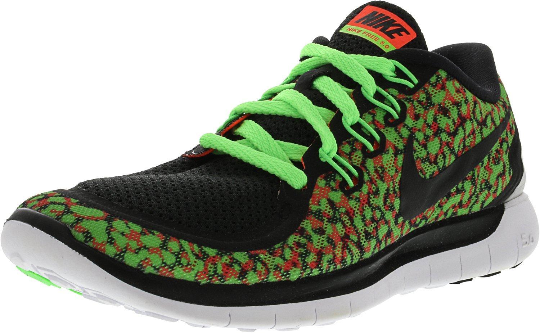 Nike Women's Free Running Shoe B00V42NG1I 6.5 B(M) US|Voltage Green/Hyper Orange/White/Black