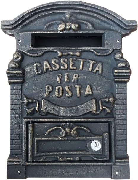 Kippen 1183B2 Cassetta Porta Lettere in Ghisa Modello Old Bronzo