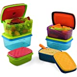 Fit & Fresh Kids' Healthy Lunch Set, 14-Piece Value Reusable Container Set with Removable Ice Packs, Leak-Proof, BPA…