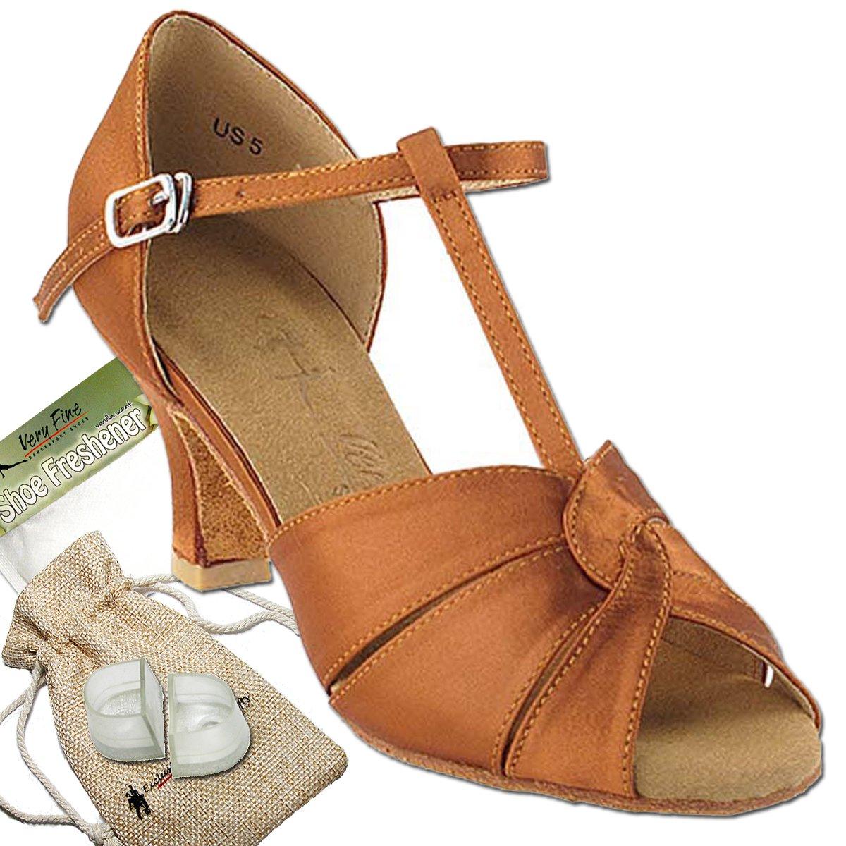 [Very Fine Dance Shoes] レディース B072L4S23W  ダークタンサテン 5.5 B(M) US