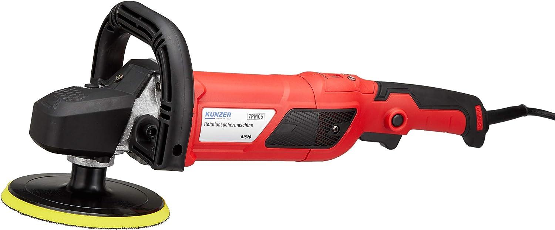 Kunzer 7pm05 Rotations Poliermaschine 150 Mm Teller 1500 Watt Motor Set Inkl Wollhaube Schwämmen U V M Auto