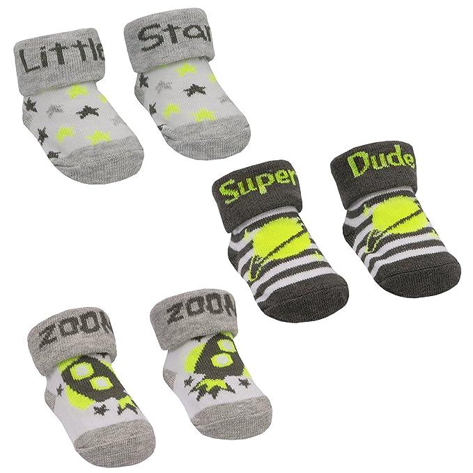427a997ec Amazon.com: BABYTOWN Baby Boys Socks (3 Pair Multipack) Space Themed ...