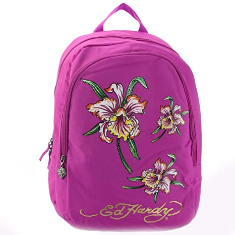 62b3ef58af3c Ed Hardy Josh Iris Backpack -Violet Purple-One Size  Amazon.ca  Luggage    Bags