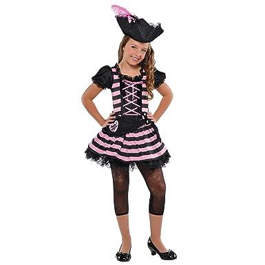 c20f7ec5 Girls Pink Sweetheart Pirate Fancy Dress Costume + Hat Girls Halloween Book  Week Outfit Buccaneer Kids Childs Toddler Cute Childrens