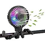 scurry Stroller Fan Upgraded, 2600mAh Portable Fan Versatile Fan Mini Personal Desk Fan USB Rechargeable Battery Operated Fan