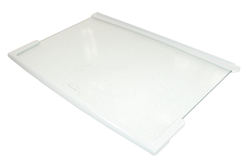 Baumatic Beko Belling Frigidaire Gorenje Smeg Stoves Fridge Freezer Glass Shelf w/ White Trim. Genuine part number 613187