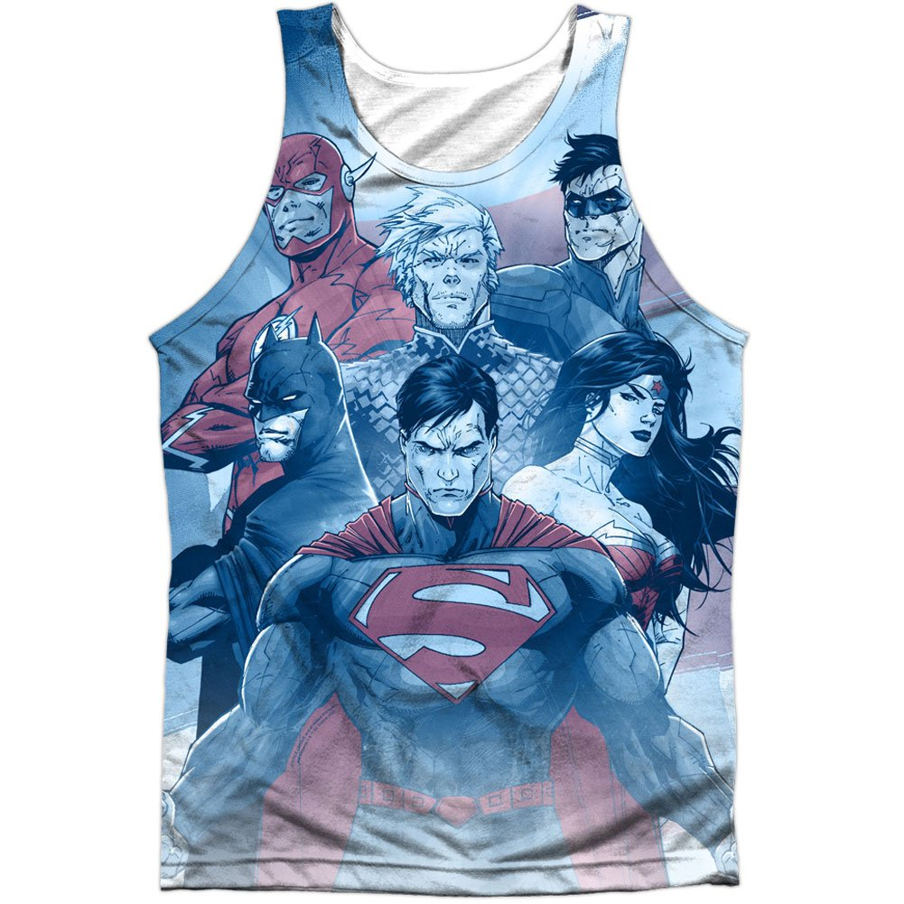 Justice League America Men's United Mens Tank White TREVCO