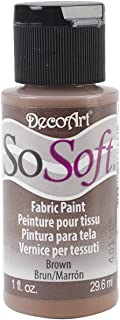 product image for DecoArt DSS102-26 SoSoft Fabric Acrylics Paint, 1-Ounce, Brown
