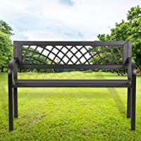 Deals on FDW 45.5-inch Outdoor Patio Steel Frame Bench 545