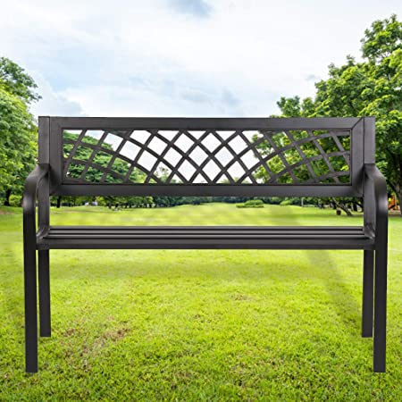 Amazon Com Garden Bench Outdoor Bench For Patio Metal Bench Park