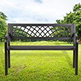 Garden Bench Outdoor Bench for Patio Metal Bench Park Bench for Yard Porch Work Entryway