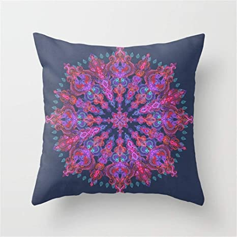 LULABE Bohemian Throw Pillow Cushion Cover for Couch Sofa Or ...