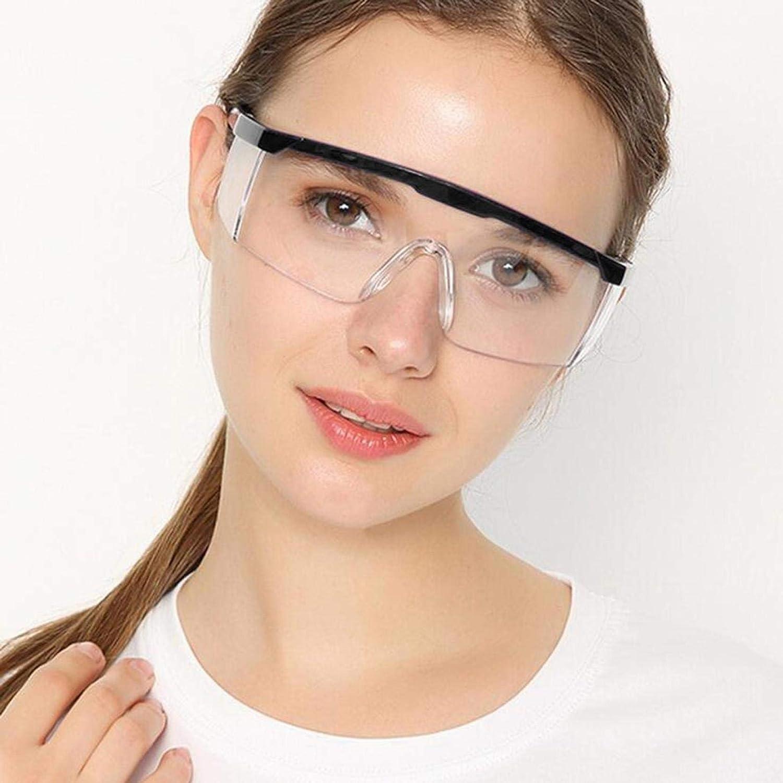 Gafas de seguridad, Gafas Protectoras transparentes antivaho, Prueba de Polvo, a prueba de viento y rayones,para Laboratorio, Agricultura, Industria, trabajo y el deporte
