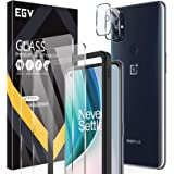 4 Pack EGV 2pcs Screen Protector & 2pcs Camera Lens Protector Compatible with Oneplus Nord N10, Tempered Glass, HD Ultra-Thin