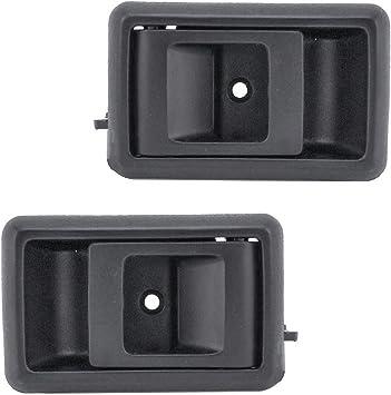 Amazon Com Black Inner Interior Inside Door Handle Pair Set For Toyota Corolla Pickup Truck Automotive