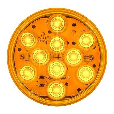 "Grand General 77450 Amber 4"" LED Sealed Light with Amber Lens (Mega 10): Automotive"