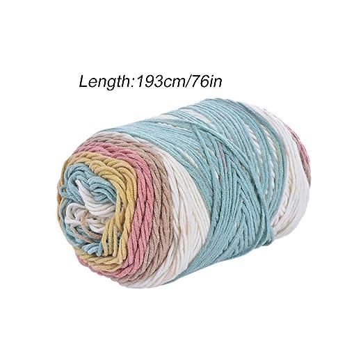 Hilo de algodón de leche de seda suave natural Hilo de lana ...