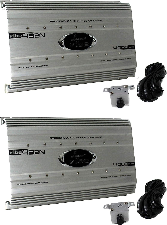 New Lanzar HTG447 2000 Watt 4 Channel Mosfet Bridgeable Amplifier Car Audio