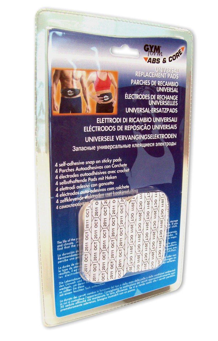 Gymform - GYMFORM08CAPTEUR - Kit Rechange Electrodes pour Ceinture ABS et Core