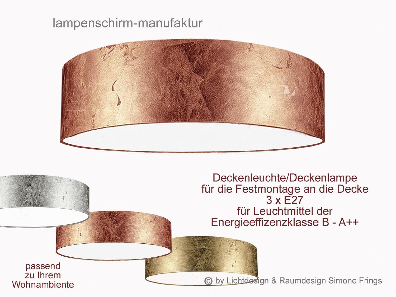 Deckenleuchte Lampenschirm Gold Silber Kupfer 40 cm