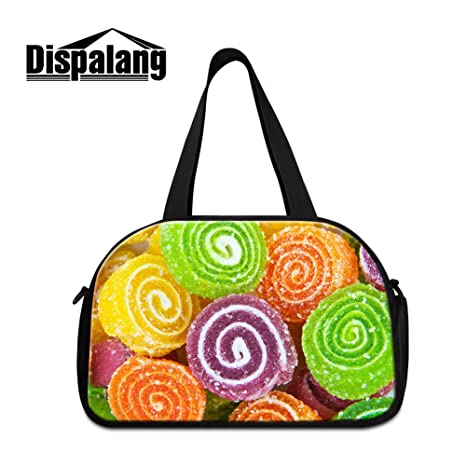 be96bd9ad3 Amazon.com  Generic Food Candy 3D Printed Shoulder Gym Bags for ...