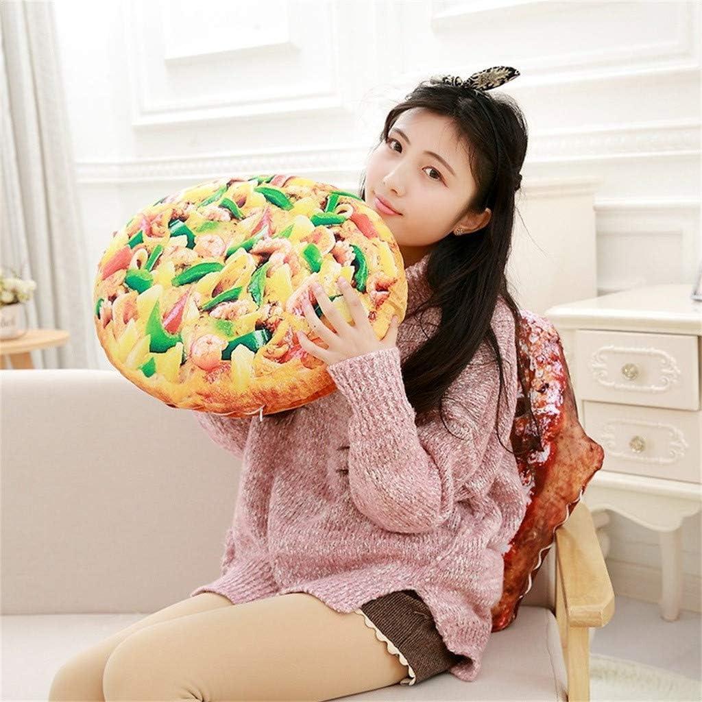 Funny 3D Simulation Steak Shape Plush Stuffed Toy 50cm Kids Gift Meidexian888 Pillow Soft Lumbar Back Cushion Home Decoration
