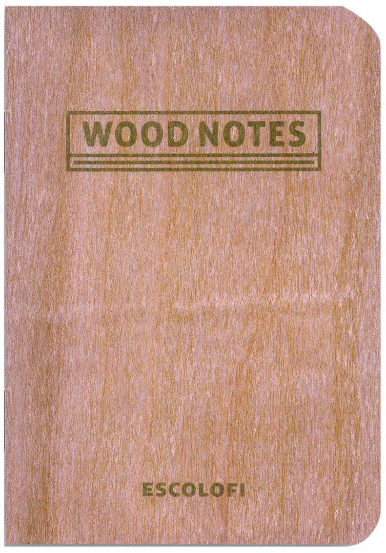 escolofi Wood Notes 800020000/ /Taccuino orizzontale 75/x 105/mm