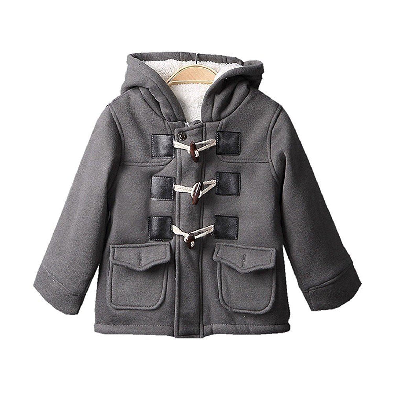 d6e32def1 Amazon.com  Baby Boys Winter Warm Cotton Fleece Jacket Outerwear ...