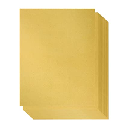 Amazon.com: Papel brillante – 96 pack-gold papel metalizado ...